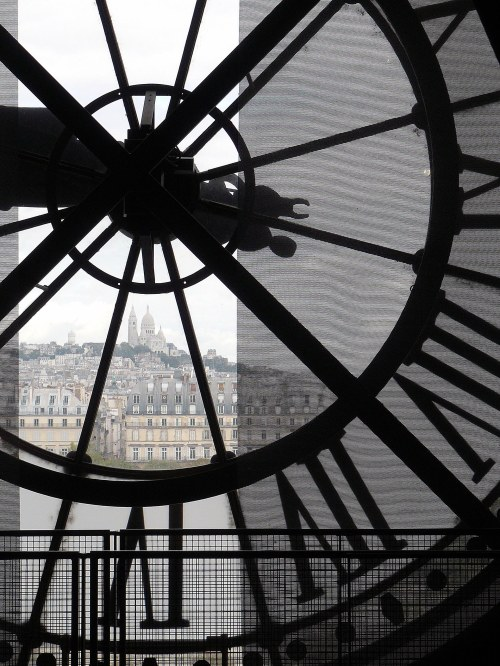 Sacré-Cœur from the clockface at Musée d'Orsay, Paris